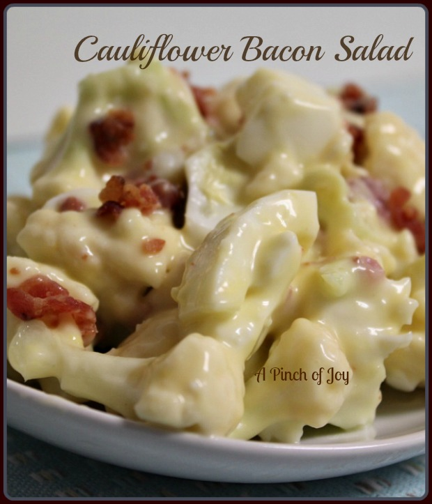 Cauliflower Bacon Salad A Pinch of Joy