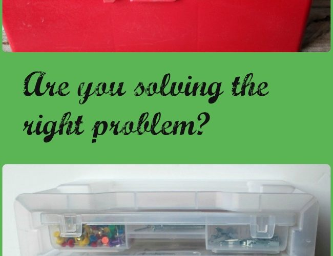 Solving the wrong problem