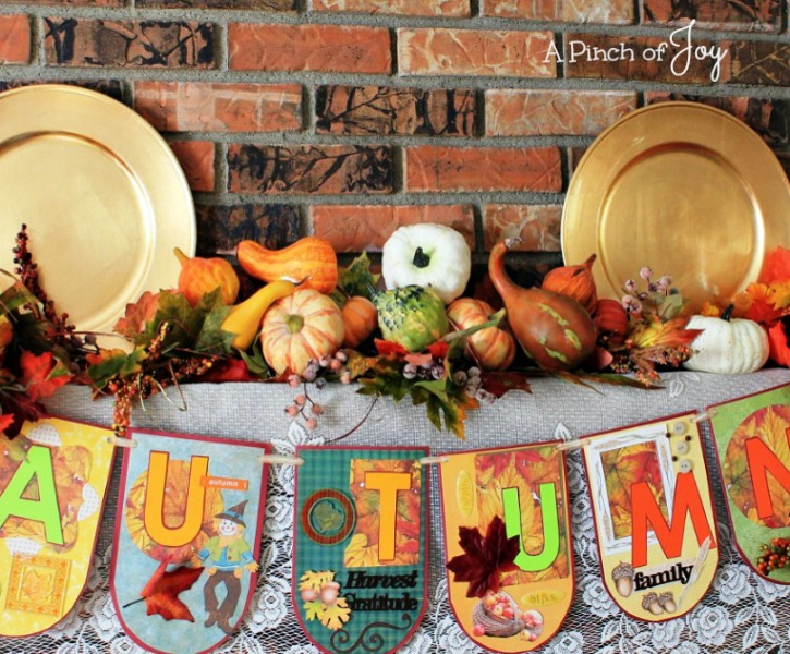 How to Make an Autumn-Banner from A Pinch of Joy