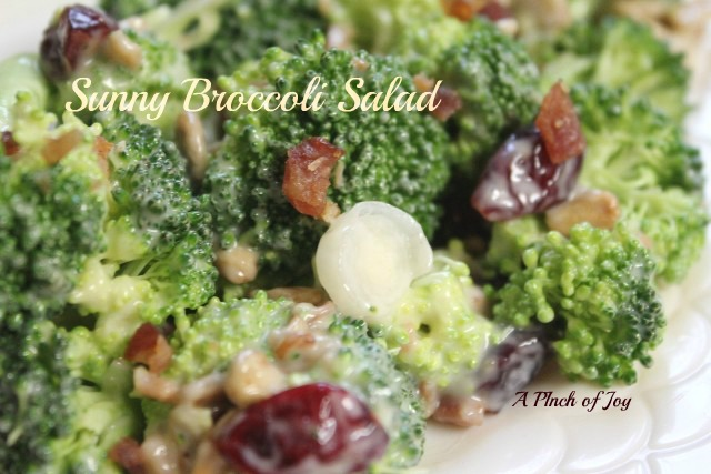 Broccoli Salad with bacon and sunflower seeds