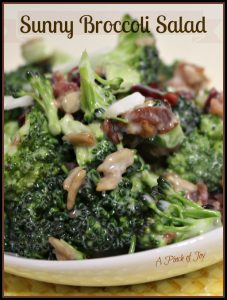 Sunny Broccoli Salad A Pinch of Joy
