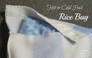 Hot or cold pack rice bag – a tutorial