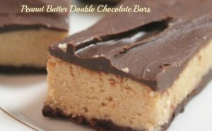 Peanut Butter Double Chocolate Bars - A Pinch of Joy