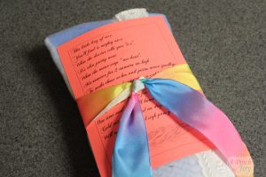 Hot cold pack rice bag with cover and poem for gift