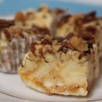 White Chocolate fudge with caramel swirl and topping