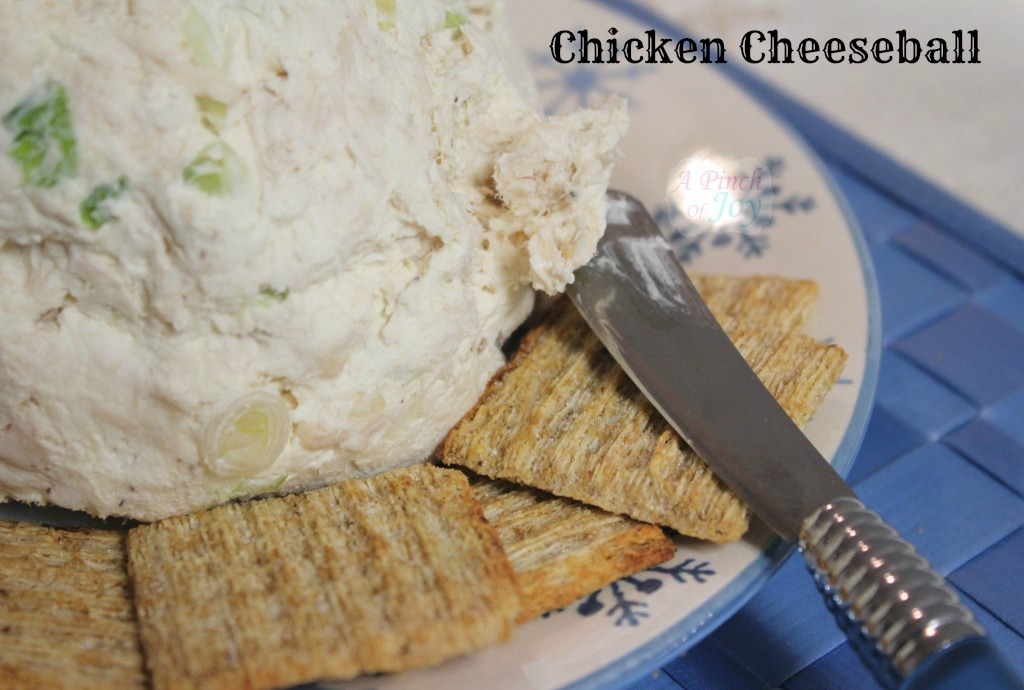 Chicken Cheeseball - A Pinch of Joy