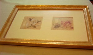 80s gold framed picture