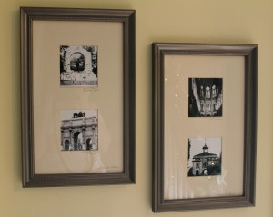 Black and white photo in bronzed frame