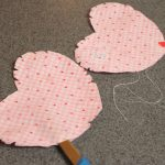 Making a rice bag heart
