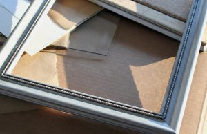 Frame painted silver