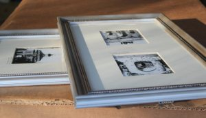 silver nickel frame for black and white photos