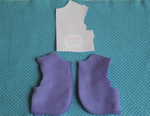 Front of doll jacket