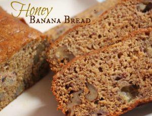 Honey Banana Bread with nuts - A Pinch of Joy