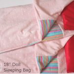 "Sleeping bag and pillow for 18"" AG Doll"