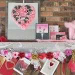 Valentine's Day Mantel and Banner