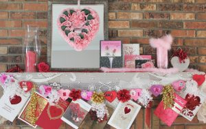 Valentine Mantel and Banner