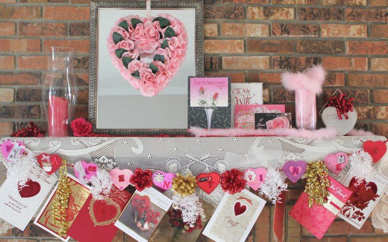 Valentine Mantel and Banner