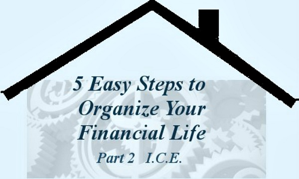 Part-2 ICE - 5 Easy Steps to Organize Your Financial Life Series -- A Pinch of Joy