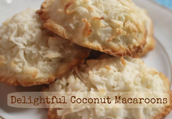 Delightful Coconut Macaroons - A Pinch of Joy