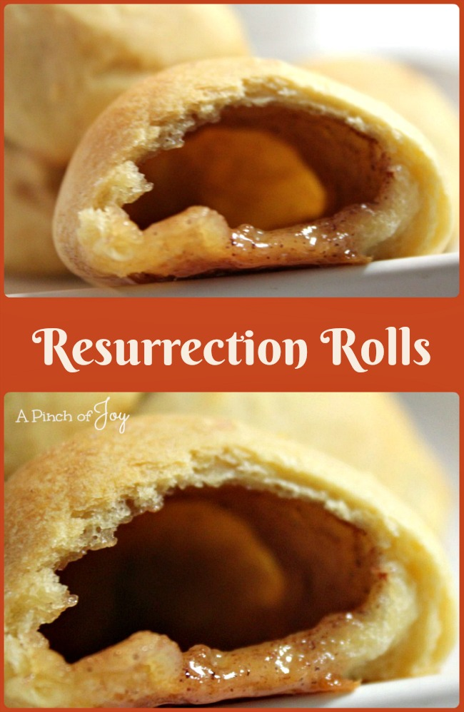 Resurrection Rolls -- A Pinch of Joy A sweet way to symbolize the empty tomb at Easter time
