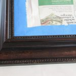 Dark Picture Frame taped for painting
