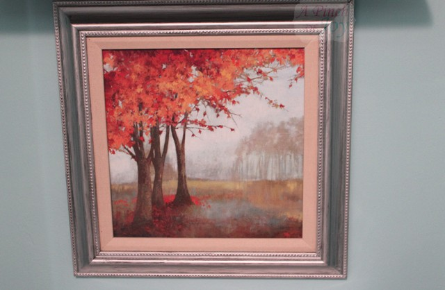 Picture of autumn trees on the wall