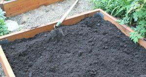 Adding soil to raised garden beds