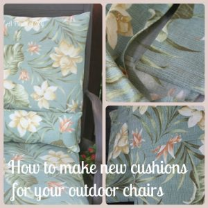 5 Easy Steps to Sewing Outdoor Cushions -- A Pinch of Joy Update your tired cushions!