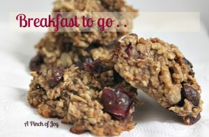 Oatmeal and fruit baked breakfast