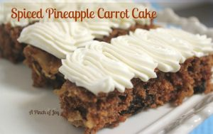 Spiced Carrot Cake made with pineapple and coconut