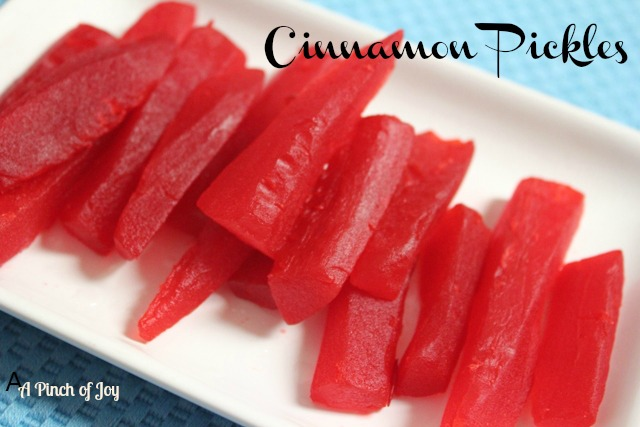 Red Cinnamon Pickles -- A Pinch of Joy