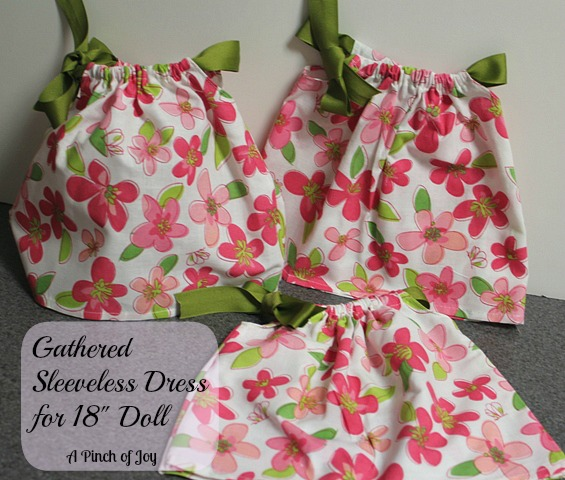 Gathered Dress for American Girl Doll