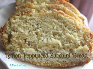 Lemon Poppyseed Zucchini Bread