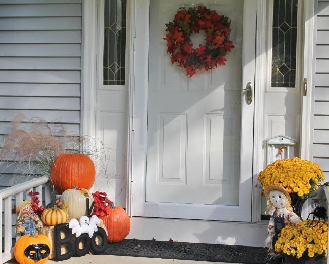 Porch in autumn
