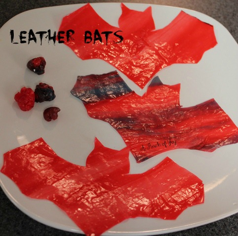 Bats made from fruit leather