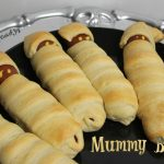 Brats baked in crescent dough