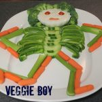 Skeleton made of vegetables