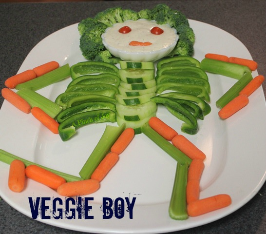 Skeleton made of vegetables