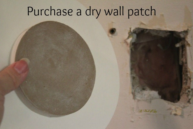Readymade drywall patch