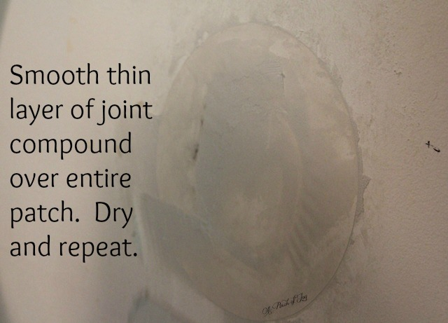 Apply joint compound to patch
