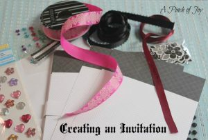 Creating An Invitation A Pinch of Joy