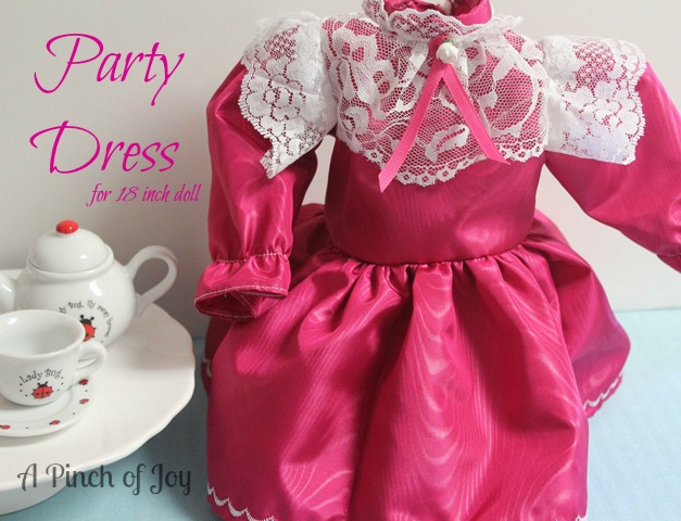 Party Dress for 18 inch Doll: A Pinch of Joy