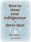 Clean Your Refrigerator in Three Days – Day Three