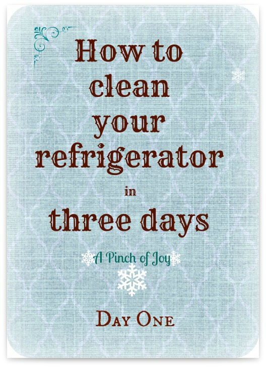 How to clean your refrigerator in three days