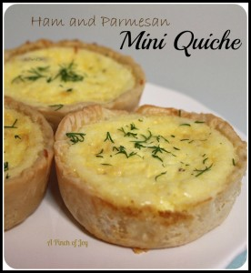 A Pinch of Joy: Ham and Parmesan Mini Quiche