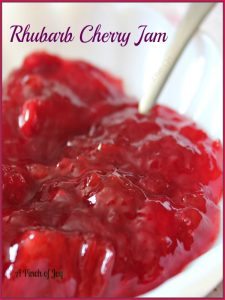 Rhubarb Cherry Jam -- A Pinch of Joy