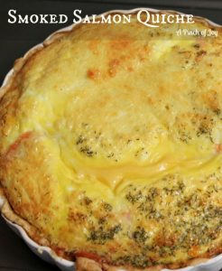 Smoked Salmon Quiche A Pinch of Joy