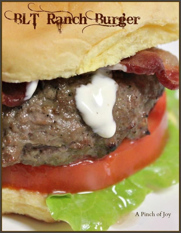BLT Ranch Burger A Pinch of Joy
