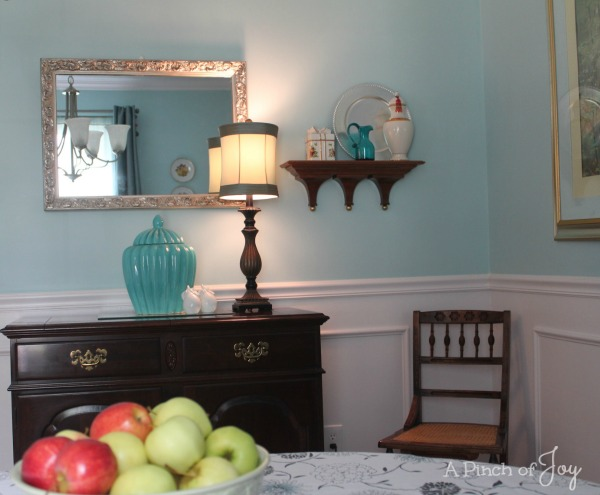 Dining Room Makeover: The Reveal -- North Wall from A Pinch of Joy