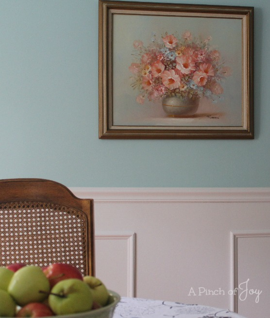 Dining Room Makeover: The Reveal, West Wall --- A Pinch of Joy